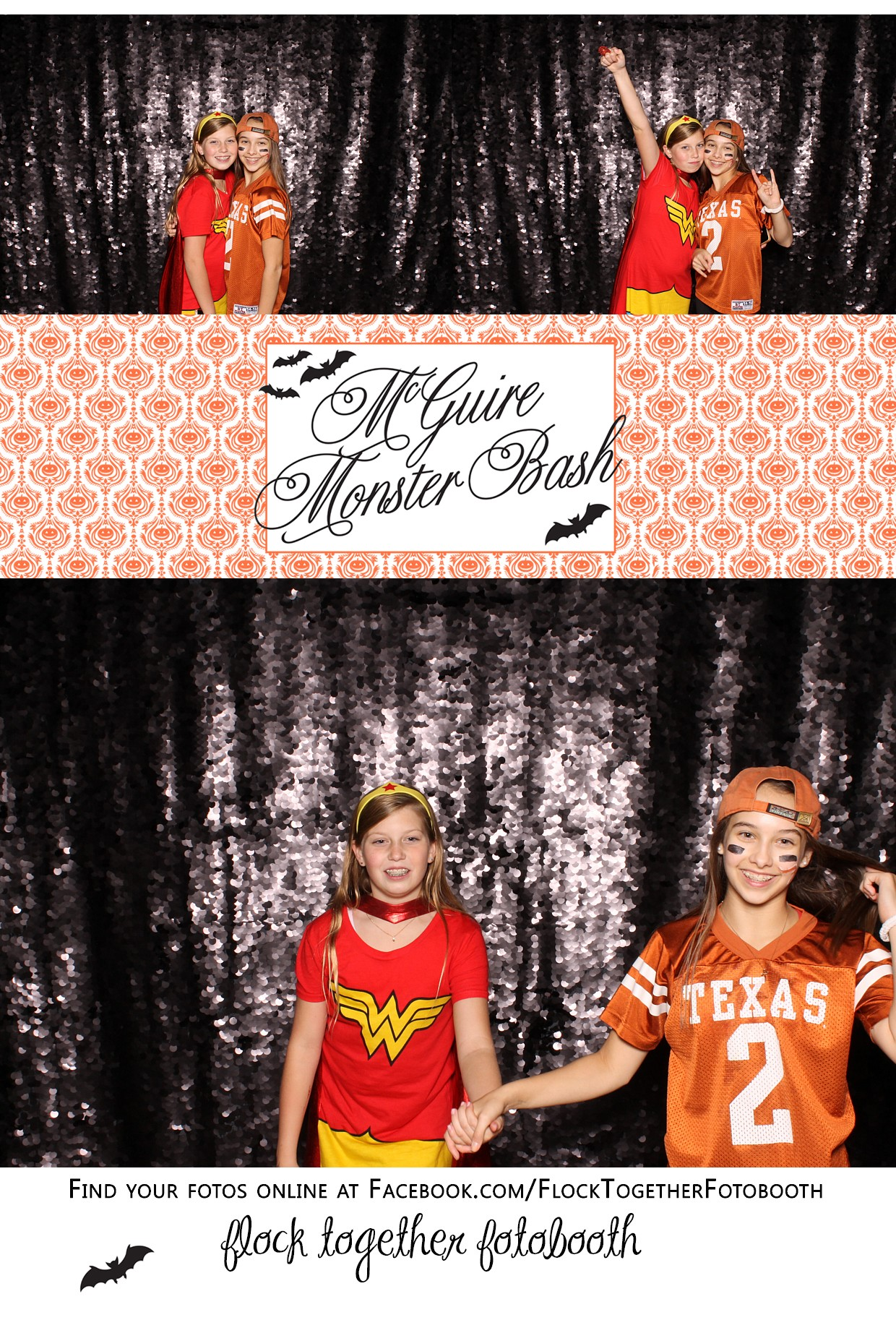 Open air Halloween photo booth in Dallas Texas